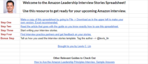 amazon-interview-spreadsheet